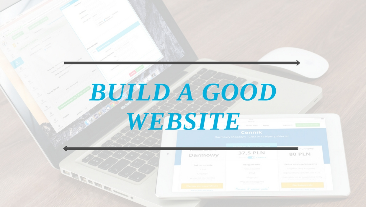 Build a good website